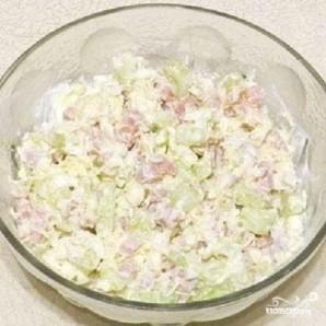 Салат из ветчины с сыром - фото шаг 5