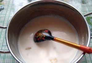 Блины ажурные на молоке - фото шаг 4