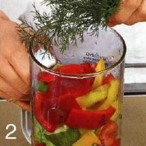 Кефирный напиток с овощами - фото шаг 2