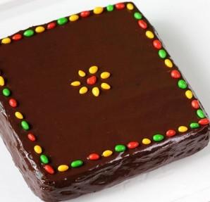 Шоколадный торт с бананом - фото шаг 11