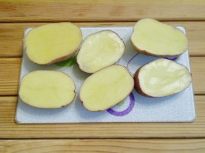 Картошка с салом и чесноком в духовке - фото шаг 3