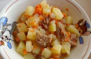 Телятина с картошкой - фото шаг 5