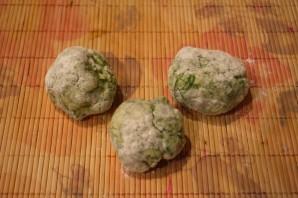 Лепешки с зеленью на сковороде - фото шаг 6