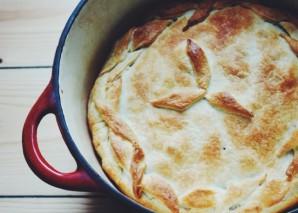Пирог с капустой без дрожжей - фото шаг 4
