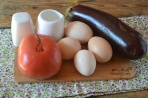 Омлет с баклажанами и помидорами - фото шаг 1