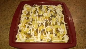 Запеченный картофель с грибами - фото шаг 7