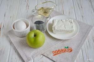 Творожная запеканка с яблоком и маком - фото шаг 1