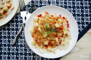 Салат из пшеницы с яблоком - фото шаг 5