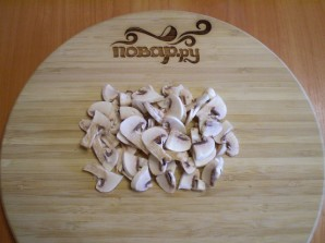 Салат из свежих грибов шампиньонов - фото шаг 6