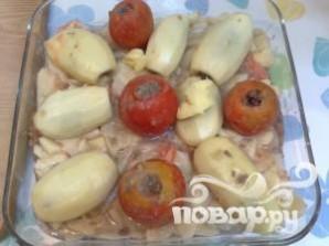 Фаршированные помидоры и картофель - фото шаг 11