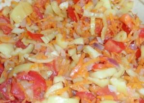 Салат с рисом на зиму - фото шаг 3