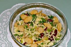 Салат из фасоли и грибов - фото шаг 5
