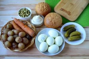 """Булочки, фаршированные салатом """"Оливье"""" - фото шаг 1"""