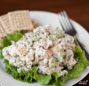Диетический салат с индейкой - фото шаг 3