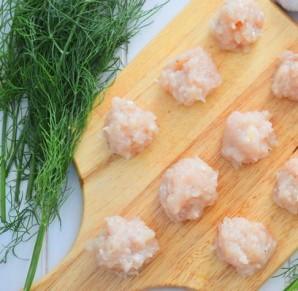Куриные фрикадельки для супа - фото шаг 2