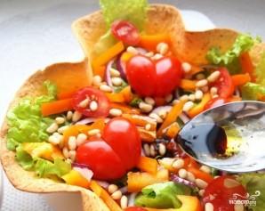 Овощной салат с бальзамическим уксусом - фото шаг 4