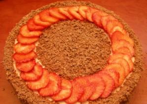 Клубнично-шоколадный торт с творожной прослойкой - фото шаг 19