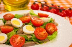 Cалат из говядины с помидорами - фото шаг 8
