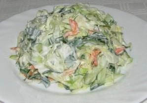 Салат из свежей зелени - фото шаг 3