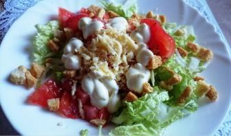 """Вегетарианский салат """"Цезарь"""" - фото шаг 3"""