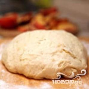 Открытый пирог с персиками - фото шаг 4