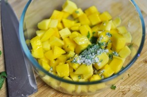 Кекс с манго и мятой - фото шаг 7