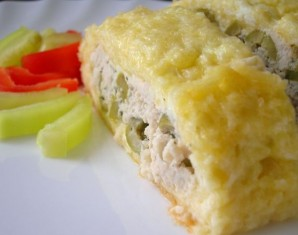 Рулет из сыра с курицей - фото шаг 6