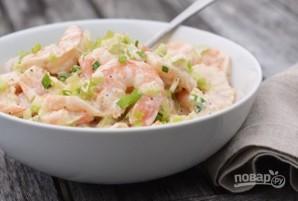 Лёгкий салат из креветок - фото шаг 5