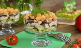 Фасолевый салат с курицей - фото шаг 8
