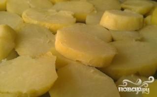 Картофельная запеканка с фаршем и сыром - фото шаг 1