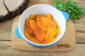 Тыквенный крем-суп с крутонами и голубым сыром - фото шаг 4