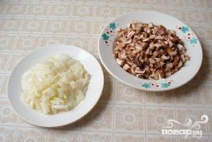 Печень с рисом и грибами - фото шаг 1
