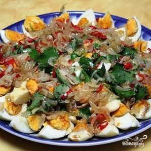 Тайский салат из яиц - фото шаг 11