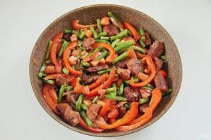 Жаркое из свинины и зеленой фасоли - фото шаг 5