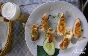 Фаршированные кальмары с грибами и рисом - фото шаг 5