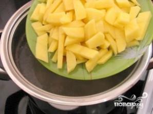 Сырный суп с копченостями - фото шаг 8