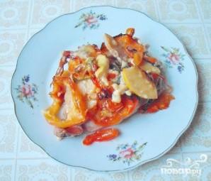 Курица, запеченная с сыром и овощами - фото шаг 5