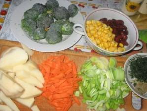 Овощной суп с индейкой - фото шаг 2