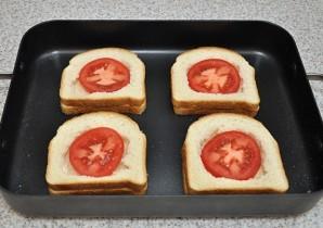 Бутерброды в духовке с яйцом - фото шаг 4