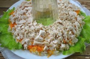 """Салат """"Гранатовый браслет"""" с грибами и курицей - фото шаг 6"""