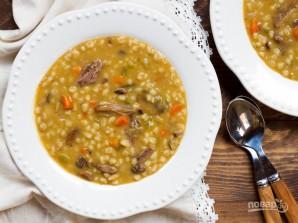Ячменный суп с рёбрышками - фото шаг 8