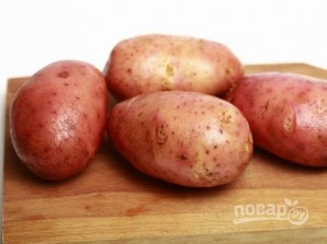 Картофель с брынзой запеченный - фото шаг 1