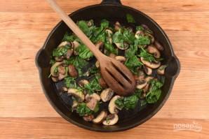 Фриттата с грибами и шпинатом - фото шаг 2