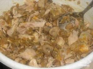 Киш с курицей и грибами - фото шаг 5