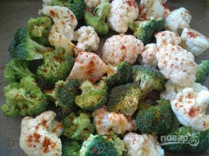 Брокколи с цветной капустой - фото шаг 2