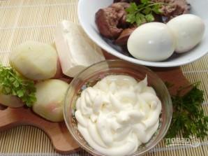 Салат из печени куриной слоями - фото шаг 1