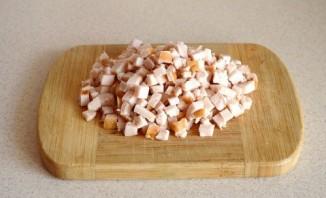 Салат с яичными блинчиками - фото шаг 6