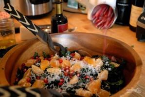 Новогодний салат с мандаринами - фото шаг 4