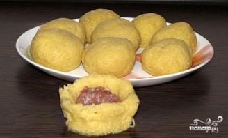 Картофельные шарики с фаршем - фото шаг 5