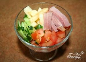 Салат с яблоками и ветчиной - фото шаг 5